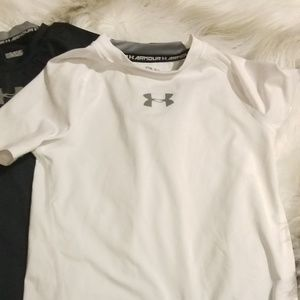 2 Boys size small Under Armour fitted shirts